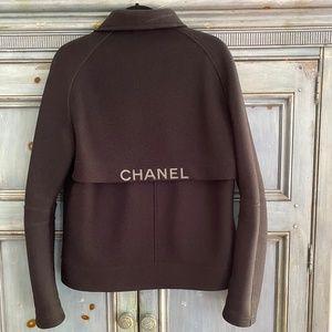 Chanel Identification black zip up jacket size 44